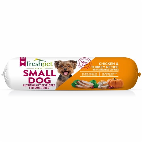 Freshpet Select Small Dog Chicken and Turkey Roll Perspective: front
