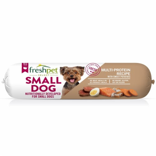 Freshpet Select Small Dog Multi-Protein Recipe Wet Dog Food Roll Perspective: front