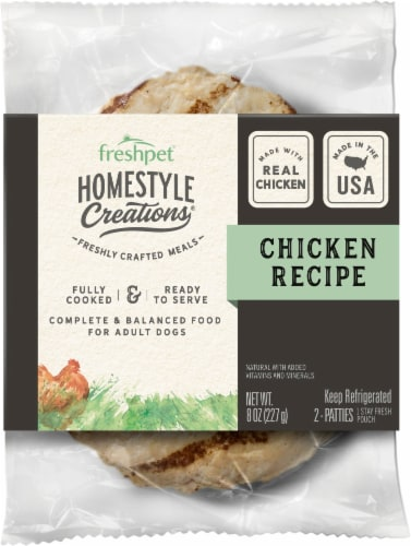 Freshpet Homestyle Creations Natural Chicken Patties Perspective: front