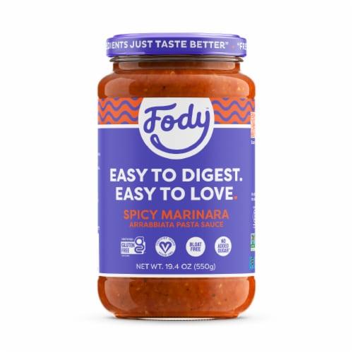 Fody Foods Gluten Free Arrabbiata Pasta Sauce Perspective: front