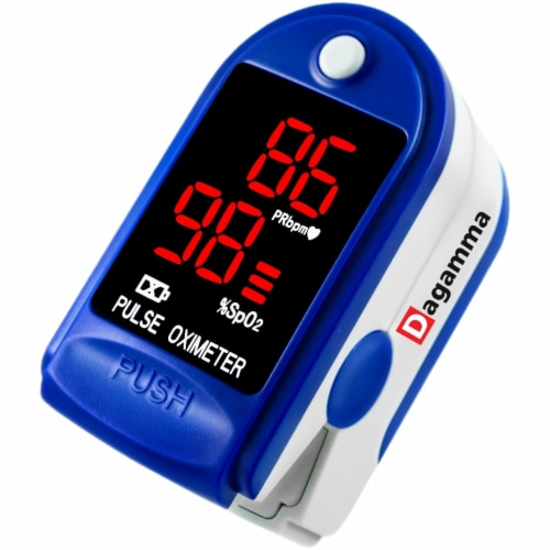 Finger Pulse Oximeter CMS50DL Blue Perspective: front