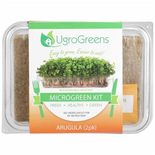 UgroGreens Arugula Microgreen Kit 2 Count Perspective: front