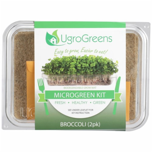 UgroGreens Broccoli Microgreen Kit 2 Count Perspective: front
