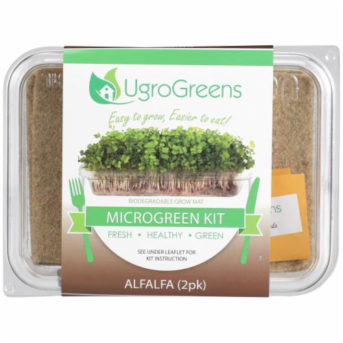 UgroGreens Alfalfa Microgreen Kit 2 Count Perspective: front