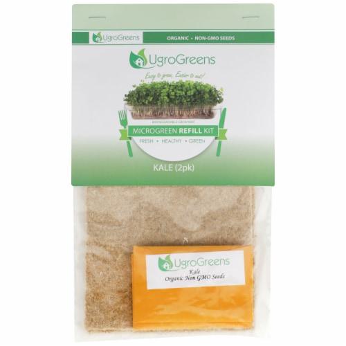 UgroGreens Organic Kale Microgreen Refill Kit Perspective: front