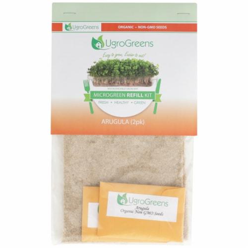 UgroGreens Organic Arugula Microgreen Refill Kit Perspective: front