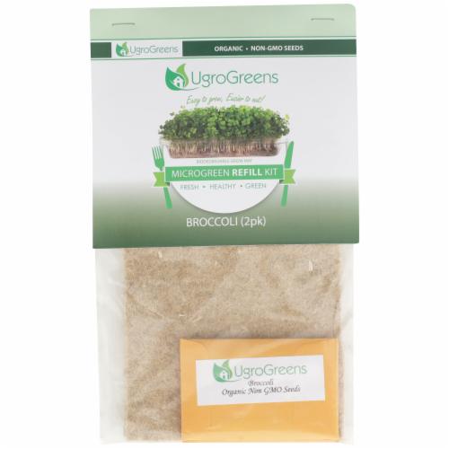 UgroGreens Organic Broccoli Microgreen Refill Kit 2 Count Perspective: front