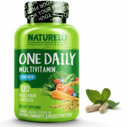 NATURELO One Daily Multivitamin for Men Capsules Perspective: front