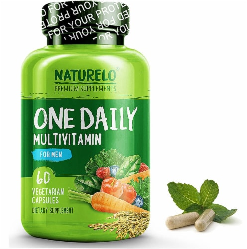 NATURELO One Daily Multivitamin for Men Vegetarian Capsules Perspective: front