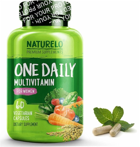 NATURELO One Daily Multivitamin for Women Vegetarian Capsules 60 Count Perspective: front