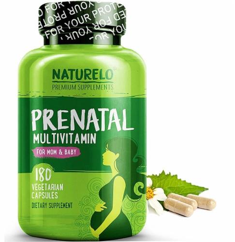 NATURELO Mom & Baby Prenatal Multivitamin Vegetarian Capsules Perspective: front