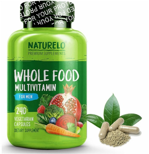 NATURELO Whole Food Multivitamin for Men Capsules Perspective: front