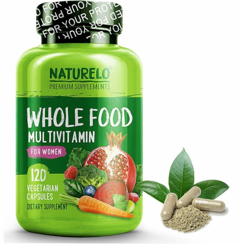 NATURELO Whole Food Women's Multivitamin Capsules Perspective: front