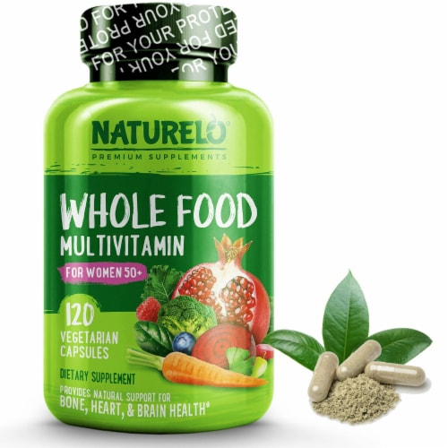 NATURELO Whole Food Women's Iron-Free Multivitamin Perspective: front