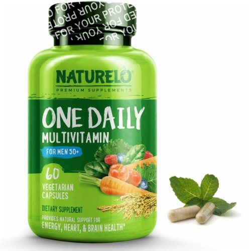 NATURELO One Daily Multivitamin for Men 50+ Capsules Perspective: front
