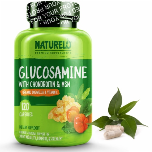 Naturelo Glucosamine with Chondroitin & MSM Capsules Perspective: front