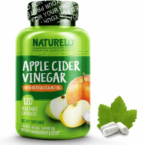 NATURELO Apple Cider Vinegar with Keto Salts Capsules Perspective: front
