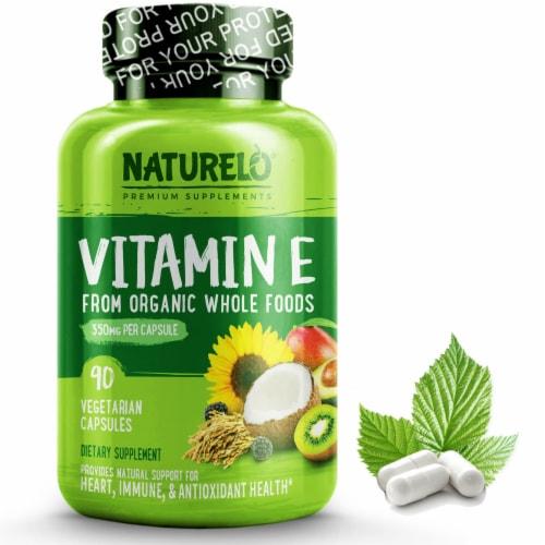 Naturelo Vitamin E Vegetarian Capsules 350mg Perspective: front