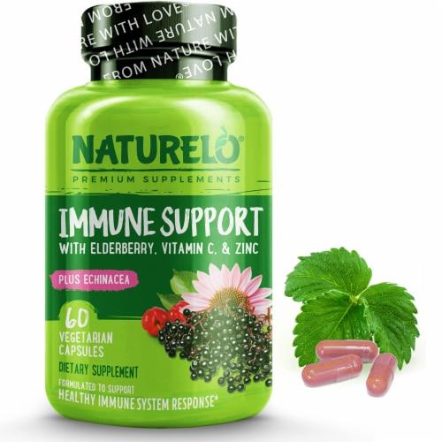NATURELO Immune Support Vegetarian Capsules Perspective: front