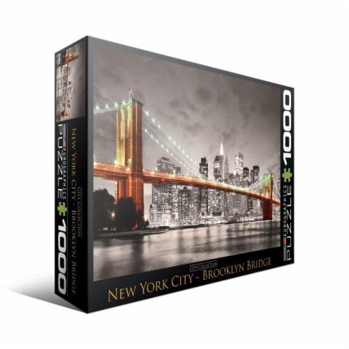 Eurographics Inc City Collection New York City Brooklyn Bridge Puzzle Perspective: front