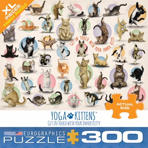 Eurographics Puzzles Yoga Kittens Jigsaw Puzzle Perspective: front