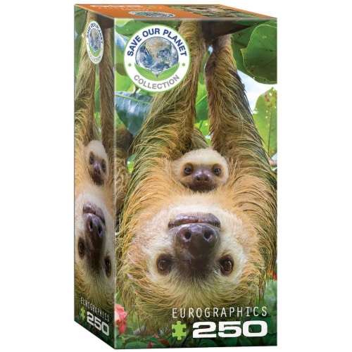 Sloths 250 Piece Jigsaw Puzzle Perspective: front