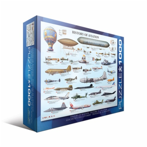 Eurographics Inc History of Aviation Puzzle Perspective: front