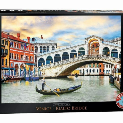 Eurographics 30376310 Venice Rialto Bridge Jigsaw Puzzle - 1000 Piece Perspective: front