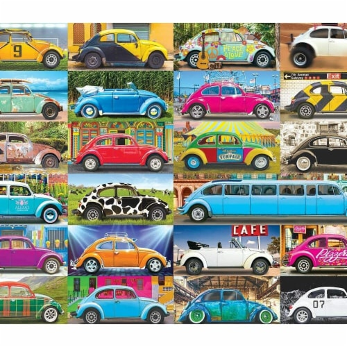 Eurographics 30377045 Volkswagon Beetle Gone Places Puzzle - 1000 Piece Perspective: front