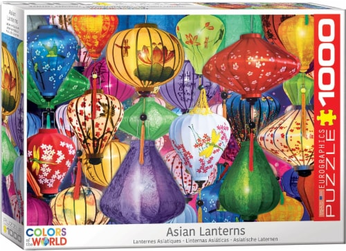 Asian Lanterns 1000 Piece Jigsaw Puzzle Perspective: front