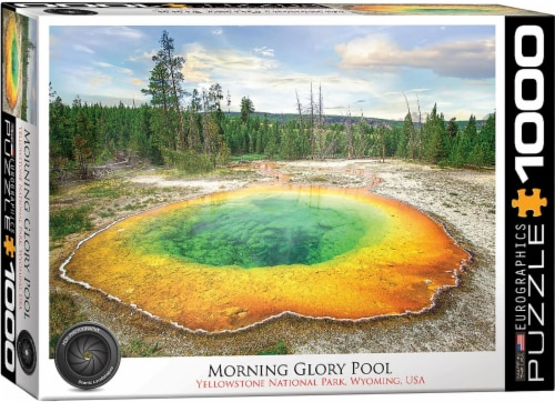 Morning Glory Pool 1000 Piece Jigsaw Puzzle Perspective: front