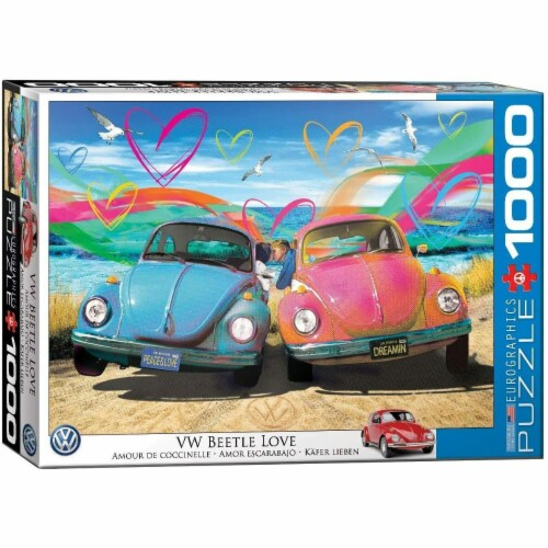 Eurographics VW Beetle Love - 1000 Piece Jigsaw Puzzle Perspective: front