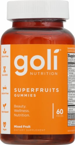 Goli Nutrition Mixed Fruit Superfruits Gummies Perspective: front