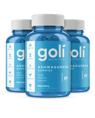 Goli Nutrition Ashwagandha Mixed Berry Gummies Perspective: front