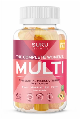 SUKU Vitamins The Complete Women's Multi Vitamin Gummies Perspective: front