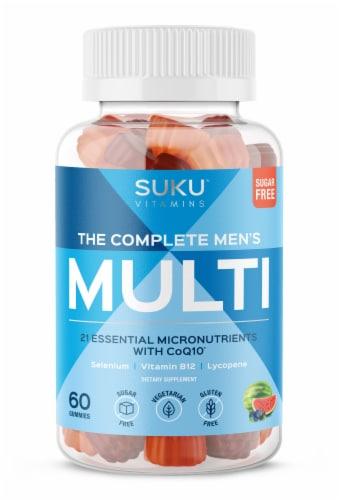 SUKU Vitamins The Complete Men's Multi Vitamin Gummies Perspective: front