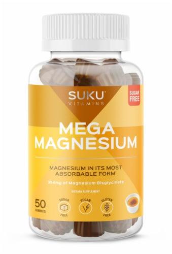 SUKU Vitamins Mega Magnesium Vitamin Gummies Perspective: front