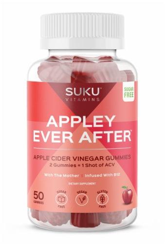 SUKU Vitamins Appley Ever After Apple Cider Vinegar Gummies Perspective: front