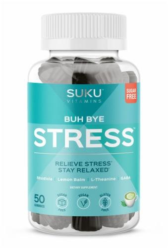 SUKU Vitamins Buh Bye Stress Vitamin Gummies Perspective: front