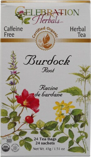 Celebration Herbals  Organic Burdock Root Tea Caffeine Free Perspective: front