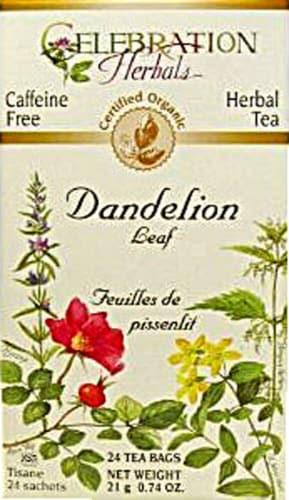 Celebration Herbals  Organic Dandelion Leaf Tea Caffeine Free Perspective: front