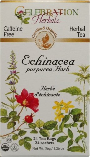 Celebration Herbals  Organic Echinacea Purpurea Herb Tea Caffeine Free Perspective: front