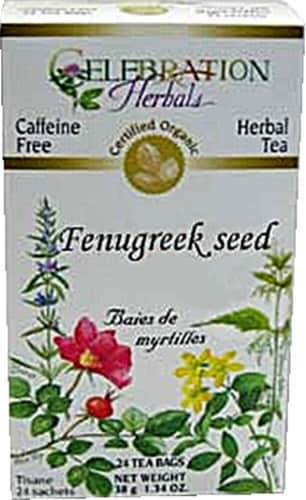 Celebration Herbals  Organic Fenugreek Seed Tea Caffeine Free Perspective: front