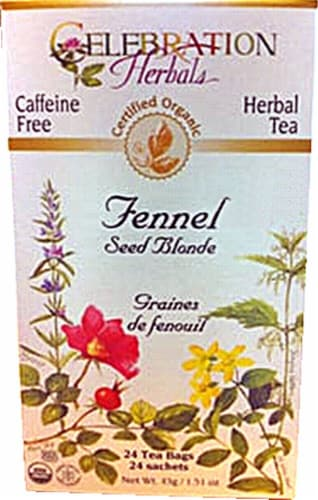 Celebration Herbals  Organic Fennel Seed Blonde Tea Caffeine Free Perspective: front