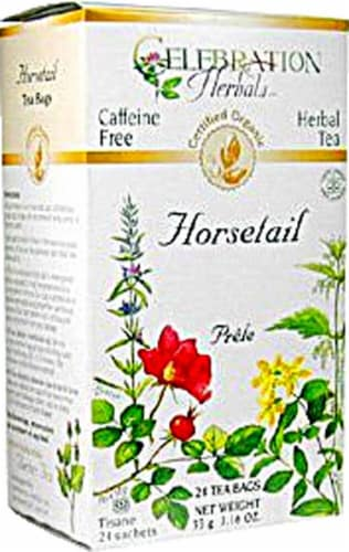 Celebration Herbals  Organic Horsetail Tea Caffeine Free Perspective: front