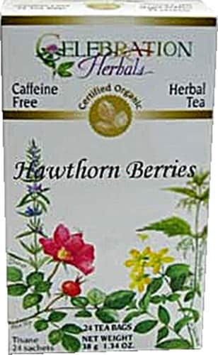 Celebration Herbals  Organic Hawthorne Berries Tea Caffeine Free Perspective: front