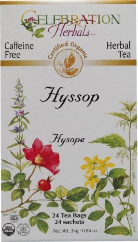 Celebration Herbals  Organic Hyssop Tea Caffeine Free Perspective: front
