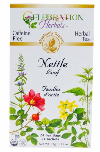 Celebration Herbals  Organic Nettle Leaf Tea Caffeine Free Perspective: front