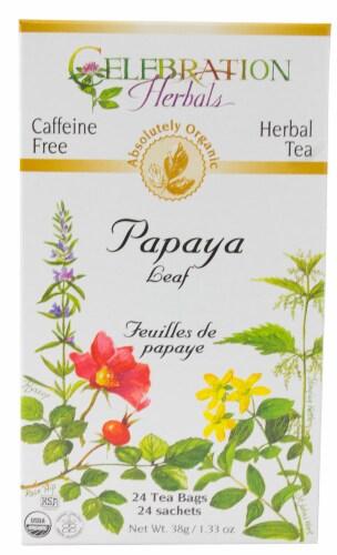 Celebration Herbals  Organic Herbal Tea Papaya Leaf Caffeine Free Perspective: front