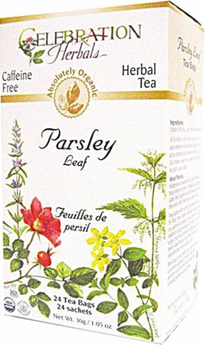 Celebration Herbals  Organic Parsley Leaf Tea Caffeine Free Perspective: front